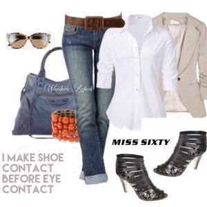 Miss Sixty Gladiator Caged Peep Toe Booties